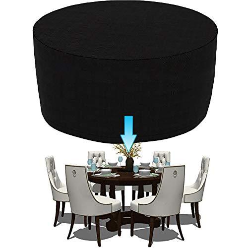 RSGK Muebles de jardín Covers, Mantel Redondo Impermeable Patio UV y Resistente a Prueba de Viento de Muebles al Aire Libre de la Cubierta del diseño de Tela Oxford Personalizable