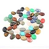 10-20 PCS Mixto Piedra Natural CABOCHON Oval 10X14 12x16 13x18 15x20 18x25mm Joyería de Bricolaje en Forma de Huevo Products (Size : 13x18mm10 pcs)