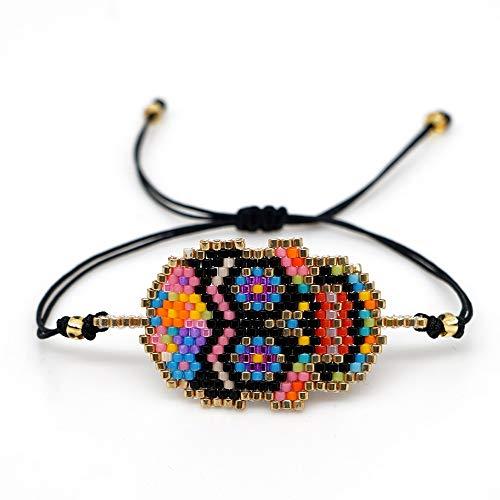 ghn Go2boho Miyuki - Pulsera de regalo con calavera mexicana para mujer, diseño de calavera de Halloween