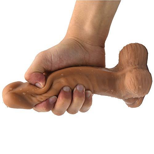 MXYLYLAT2 Pěnǐs vǐbrǎtǒr, Quiet Power-Super Huge Lang Größe Female Frauen Selbst Spiel mit der Lust Massage - Saug-Massage Vergnügen 19cm / 7.48