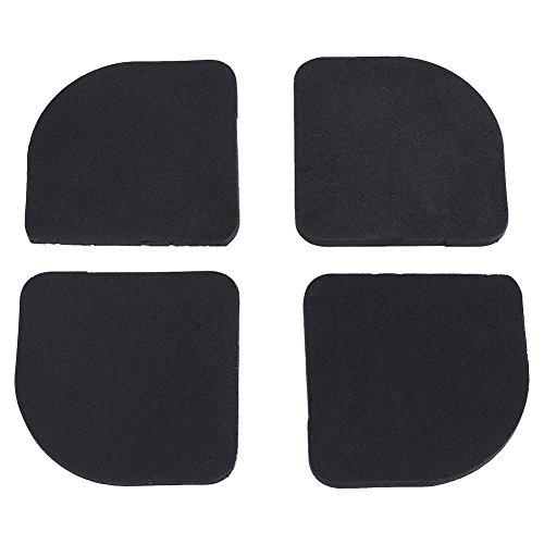 4 pezzi Tappeto Ammortizzatore Vibrazione per lavatrice rilievi mobili anti-vibrazione gomma universale silenzioso antiscivolo piedi pastiglie frigorifero elettrodomestici protezione antigraffio