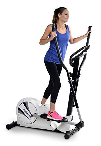 Powerpeak Crosstrainer Energy Line bis 150 kg, Hometrainer mit LCD-Computer, 8 elektronische Widerstandsstufen, Herzfrequenz-Messung mittels Handsensoren