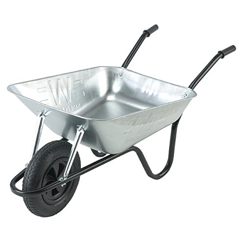 The Walsall Wheelbarrow Company Trilanco Gran Carretilla 90 litros, Metal Heavy Duty,...