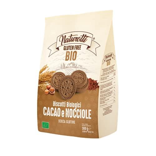Pasta Natura - Biscotti Bio Naturotti Cacao e Nocciole Gluten Free 300 g - Pasta Natura