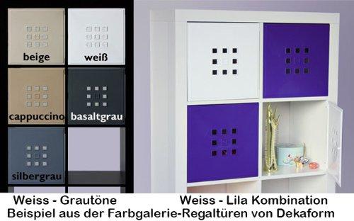 Dekaform Designer Tür für Würfelregal Flexi Einsatz Ikea Regal Expedit+Kallax mit Nörnäs * Weiss