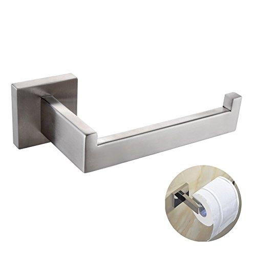 CASEWIND Toilettenpapierhalter Klorollenhalter Wandmontiert Befestigung Badezimmer Zubehör 304 Edelstahl, Silber Modern Rostfrei Einfach Gebürstet finished Oberfläche