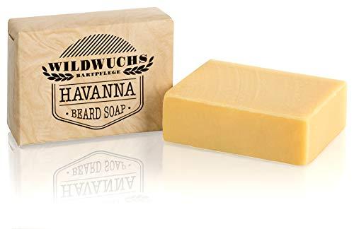 Bartseife HAVANNA von Wildwuchs Bartpflege - Beard Soap Stück Seife für Männer 100% natürlich und vegan Naturkosmetik (1 x 100 g)