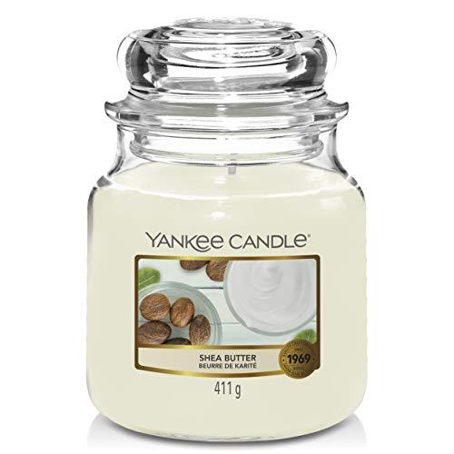 Yankee Candle Yankee candle duftkerze im glas mittelgroß | shea butter | brenndauer bis zu 75 stunden