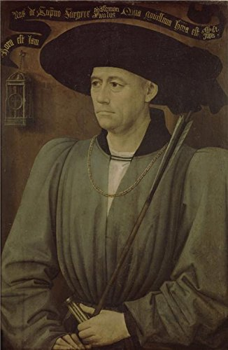 Oil Painting 'Rogier Van Der Weyden,Portrait Of A Tournament Judge,ca.1399-1464' Printing On High Quality Polyster Canvas , 18x28 Inch / 46x70 Cm ,the Best Basement Decoration And Home Artwork And Gifts Is This Cheap But High Quality Art Decorative Art Decorative Prints On Canvas