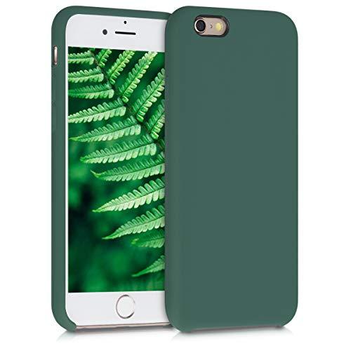 kwmobile Cover Compatibile con Apple iPhone 6   6S - Cover Custodia in Silicone TPU - Back Case Protezione Cellulare Verde Militare