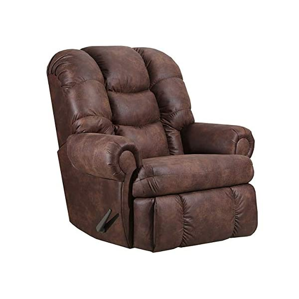 lane stallion big man (extra large) comfort king wallsaver recliner in dorado walnut. rated for up to 500 lbs. ext…
