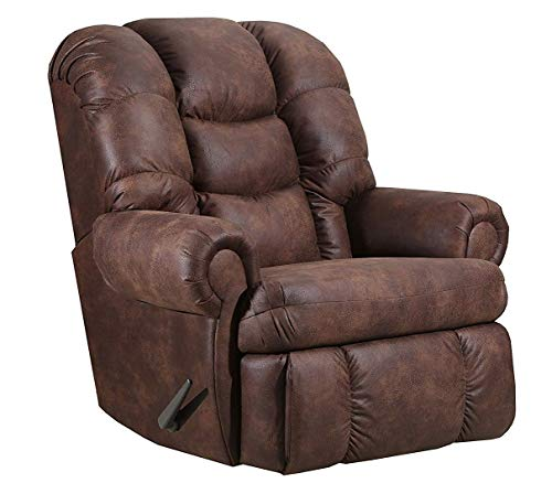 "Lane Stallion Big Man Comfort King Wallsaver Recliner in Dorado Walnut. Rated for Up to 500 Lbs. Extended Length. 79"". Seat Width. 25"" Seat Height 22"". Free Curbside Delivery."