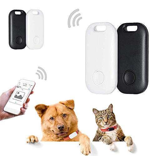 4 Pack Smart Key Finder Locator, Ultra-Thin GPS Tracking Device for Kids Pets Keychain Wallet Luggage Anti-Lost Tag Alarm Reminder Selfie Shutter APP Control Compatible iOS Android-New Version