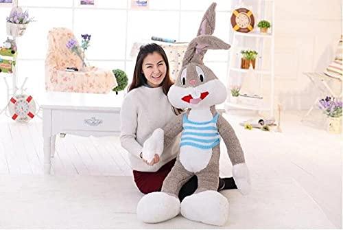 Dibujos animados creativos Artículo de venta Juguetes de peluche Bugs Bunny Animal de peluche Muñeca Kawaii para niños Almohada suave Juguete divertido Regalo de Navidad-100cm