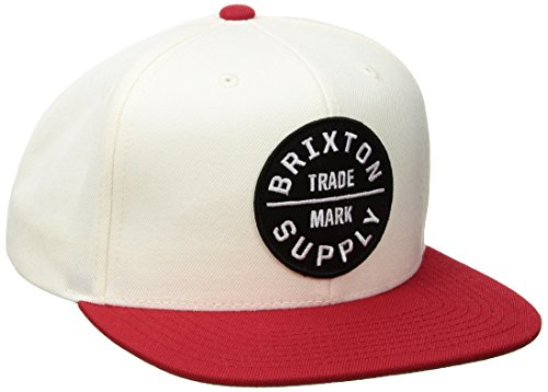 BRIXTON Oath 3 Cap, Off White/Red, One Size