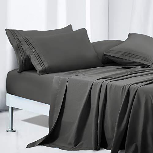 TEKAMON Queen Bed 6 Piece Sheet Set Cooling 100%...