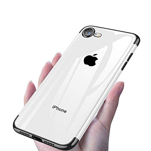 iPhone SE ケース 第2世代 iPhone7 ケース/ iPhone8 ケース クリア メッキ加工 耐衝撃 薄型 軽量 ソフトTPU 黄変防止 4.7インチ 一体型 人気 携帯カバー 取り出し易い ケース