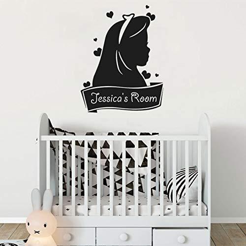 Tianpengyuanshuai Muurtattoo Cartoon gepersonaliseerde namen vinyl muursticker kinderkamer deur decoratie meisjes slaapkamer gebruik