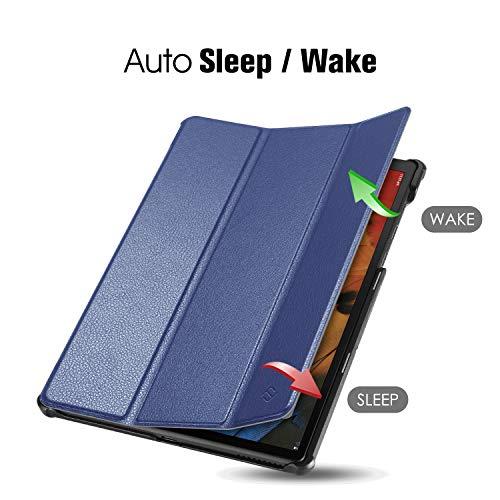 Fintie Hülle für Lenovo Tab M10 Full HD Plus/Smart Tab M10 Full HD Plus 10.3 Zoll TB-X606, Ultradünne Flip Case Cover mit Auto Schlaf/Wach Ständer Funktion für Lenovo M10 Plus, Marineblau