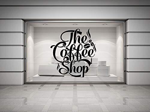 Coffee Shop Deca Viny Wa Deca Kaffee ettering Wa Dekoration Coffee Shop ogo Mura Kunstgeschäft Gass Wa 106x114c