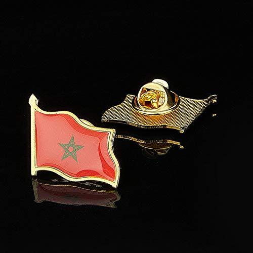 Das Königreich Marokko Flagge Epoxy Anstecknadel Abzeichen/Brosche für offizielle Anzug Tasche Hut Zubehör