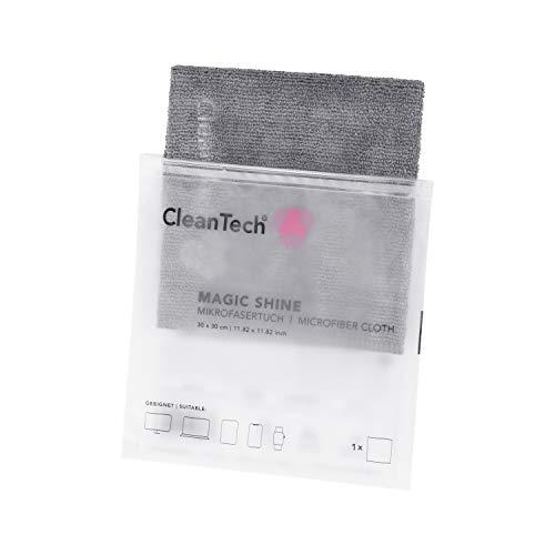 CleanTech MagicShine Mikrofasertuch I Bildschirm-Reinigungstuch I geeignet und optimiert für Displays aller Art (OLED, LCD, TFT uvm.) und sensible Oberflächen