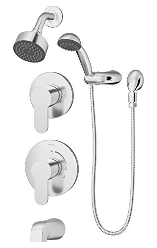 Symmons 6706-TRM Identity 2-Handle Tub Faucet Trim Kit with Hand Shower (Valve Not Included), Chrome