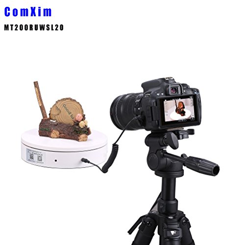 ComXim 360 Degree Photography Turntable, Electric Rotating Turntable,7.87in Diameter, 44LBcapacity, App & Software Control, with Shutter Cable for Canon