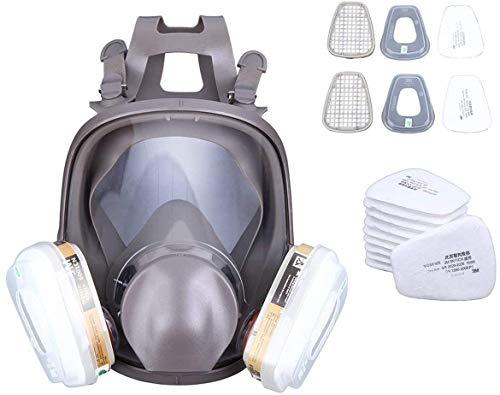 Yonntech Máscara de Gas De Cara Completa 15 in 1 con Filtro Máscara de filtro