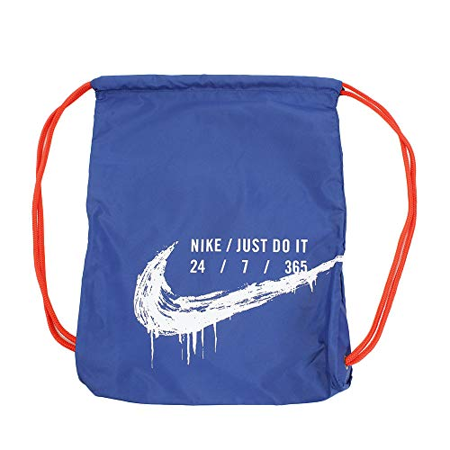 Nike Graphic Drawstring Gymsack (One Size, Indigo Force(BA6008-438)/White)