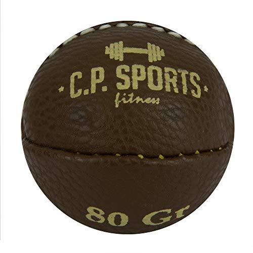 C.P. Sports Wurfball oder Schleuderball – 80g, 200g, 800g, 1000g, 1500g – Synthetisches Leder – Sport, Training, Fitness, Freizeit, Wettkampf – Ball, Schlagball, Werfen – Wurfball braun 80g
