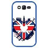 Funda Azul para [ Samsung Galaxy Grand Lite - Grand Neo - Neo Plus ] diseño [ Bandera en Forma de corazón del Reino Unido ] Carcasa Silicona Flexible TPU
