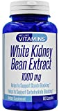 White Kidney Bean 1000mg – 180 Capsules – White Kidney Bean Supplement – Helps to Support Carbohydrate and Starch Blocking for Healthy Weigh