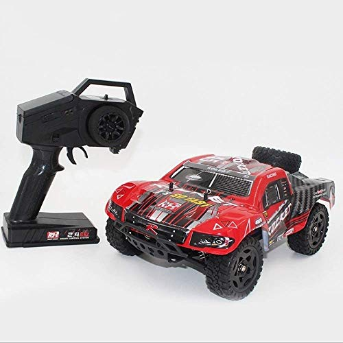 LKOER 1/16 Carreras Recargables de Carreras 4x4 Crawlers Off Road Vehicle Radio RC Toy Coche 30km / h Máquina controlada rápida RC Monster ... jinyang ( Color : Red )