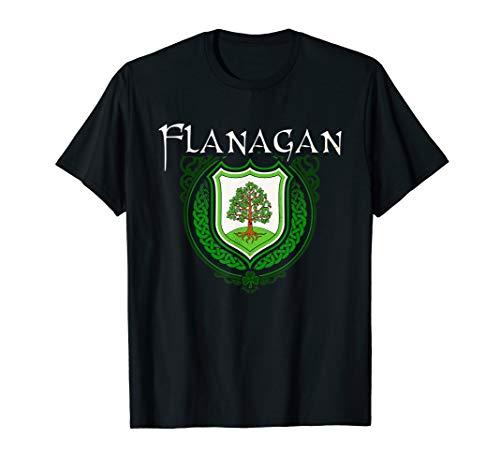 Flanagan Surname Irish Last Name Flanagan crest T-shirt