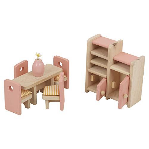 URBN Toys Puppenhaus für Kinder, Holz, Geschenk, Spielzeug-Sets (Esszimmer)