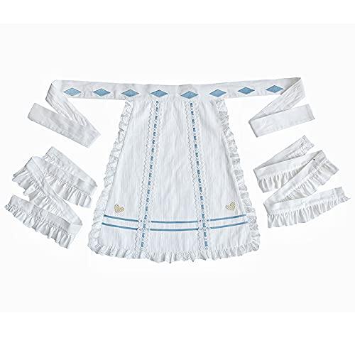 JLCYYSS Vestido de Lolita dulce para nias AP de algodn de cintura alta para nias adolescentes,faldassuaves y bonitas para fiestas, disfraz de Cosplay, delantal de talla nica