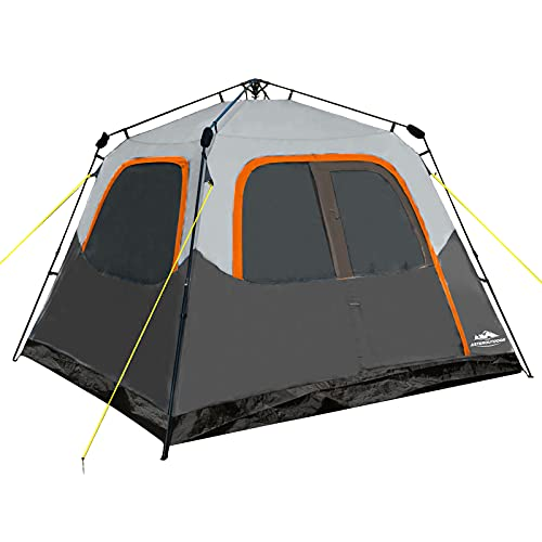 AsterOutdoor 6 Person Cabin Tent Instant Setup Tent, Waterproof Family Camping Tent, 60 Sec. Easy Set Up for Car Camping Hiking Outdoor Adventure,...