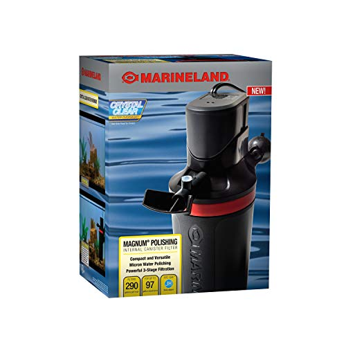 MarineLand Magnum Polishing Internal Canister Filter, For aquariums Up To 97 Gallons, 10.5 IN (ML90770-00)
