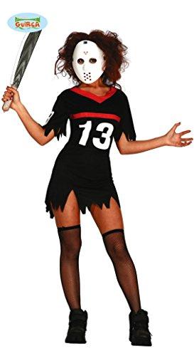 sexy Hockey Killerin Kostüm für Damen Gr. M und L, Größe:M