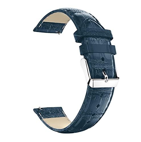 Correa de cuero de 20MM para Xiaomi Huami Amazfit GTS 2E / GTS 2 Mini correa de reloj inteligente PU Reemplazo de pulsera-Azul profundo, para Amazfit GTS 2 Mini