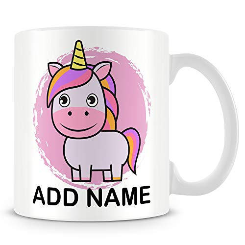 Personalised Smiling Unicorn Coffee Mug