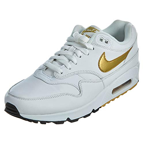 Nike Herren Air Max 90/1 Laufschuhe, Mehrfarbig (White/Metallic Gold/Black 102), 46 EU