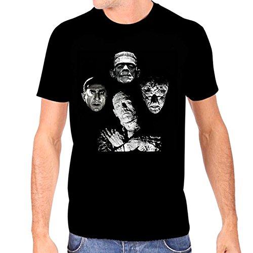 Universal Monsters Men's Horror Band T-Shirt, Black, XX-Large
