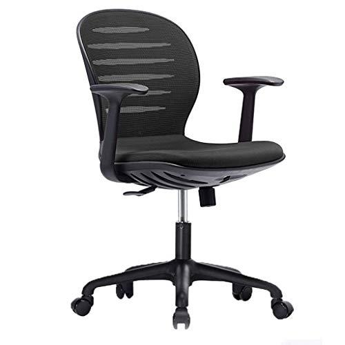 PXY Praktischer Schreibtischstuhl, Bürostuhl Schwenkstuhl, Computer Ergonomischer Mesh-Stuhl Mit Armlehne Frauen Männer Erwachsene Einfache Aufzugstuhl