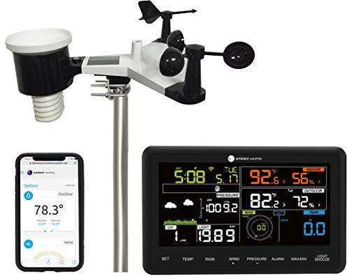 Ambient Weather WS-2902B WiFi Smart Weather Station - Compatible with Alexa & Google Assistant