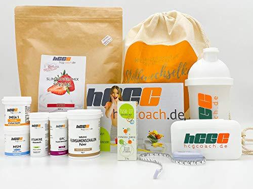 hCGC® Das Original Stoffwechselkur Komplettpaket | 21 Tage hCG Diät +9 Tage geschenkt | Mit PUSH-IT Aktivator Spray und Slim Protein Spezial | + Darmsanierung | Made in Germany (Erdbeere)