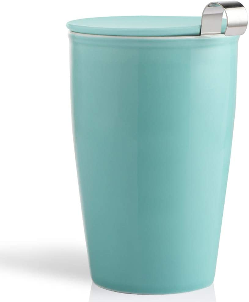 Easy-to-use SWEEJAR Ceramic Tea Cup with Infuser for Basket Tulsa Mall Steeping and Lid