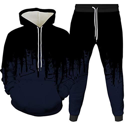 Sportswear hombres gimnasio conjunto completo de running Jersey sudadera con capucha traje Jogger 2 pistas traje fondos