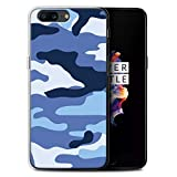 Stuff4 Phone Case for OnePlus 5 Camouflage Army Navy Blue 2